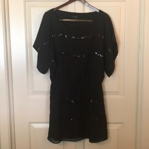 Jessica Simpson M Black holiday sequined dress
